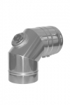 Колено 90° с плотным лючком ревизии (DW-fu, Ø 100 мм)