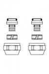 """Присоединительный набор со стяжным кольцом """"Cofit S"""" (16 х 2,0 мм)"""