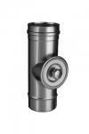 Ревизия-тройник с крышкой до 400°С (Ø 130 мм)