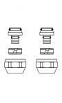 """Присоединительный набор со стяжным кольцом """"Cofit S"""" (20 х 2,0 мм, никел.)"""